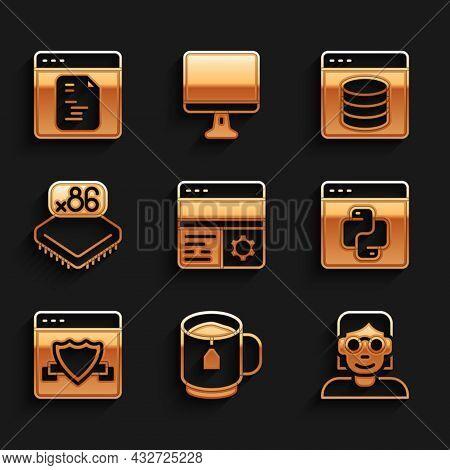 Set Debugging, Cup Of Tea With Tea Bag, Hacker Or Coder, Python Programming Language, Browser Shield