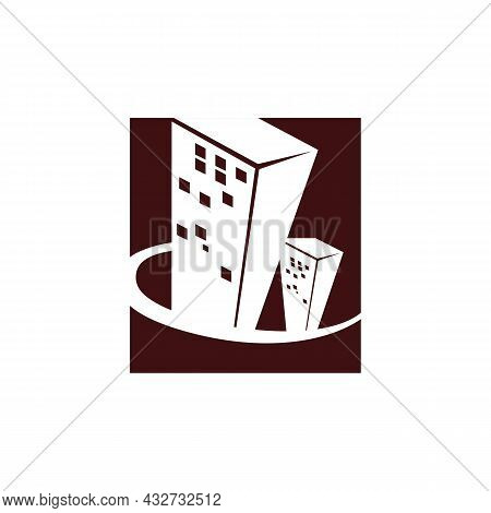 Abstract Building Apartment Stylish Logo Icon Flat Vector Concept Graphic Simple Stylish Design