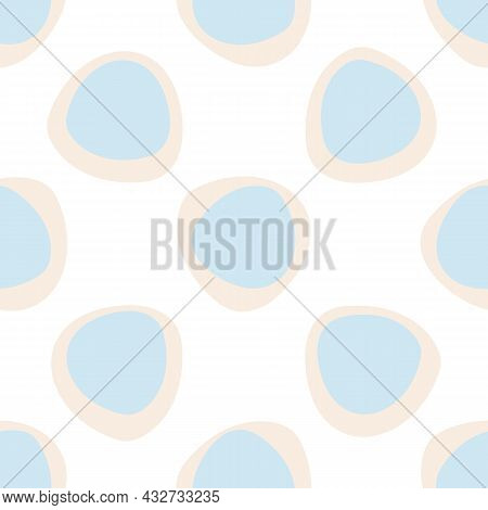 Abstract Playful Style Cut Out Shape Pattern. Seamless Modern Simple Collage Style Design For Retro