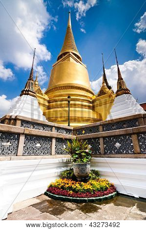 Temple Of The Emerald Buddha In The Grand Royal Palace. Bangkok City, Thailand