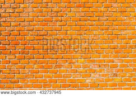 Seamless Orange Brick Wall Background. Orange Brick Grunge Wall Background