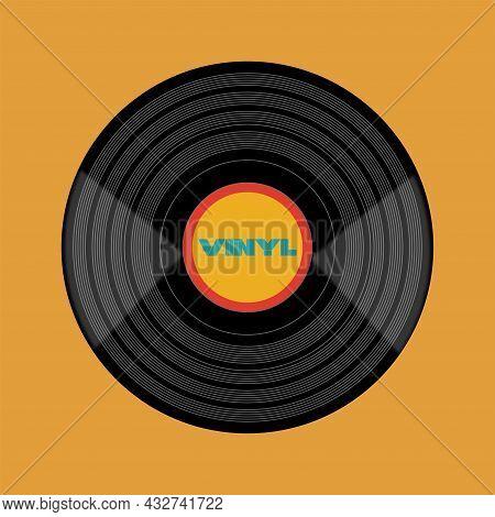 Vinyl Retro Record Vector Design On A Retro Background