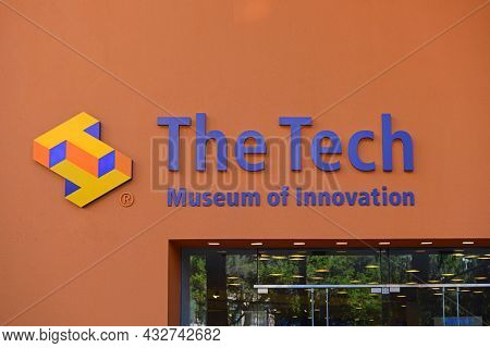 San Jose, Ca, Usa - Mar. 12, 2014: The Tech Museum Of Innovation At 201 S Market Street In Downtown