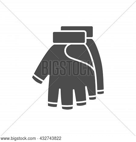 Military Gloves, Vector Flat Paintball Or Airsoft Icon