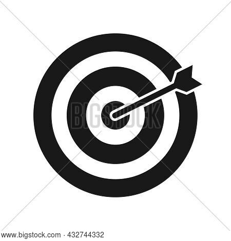 Darts, Darts Game Icon Isolated On White Background. Vector, Cartoon Illustration. Vector.