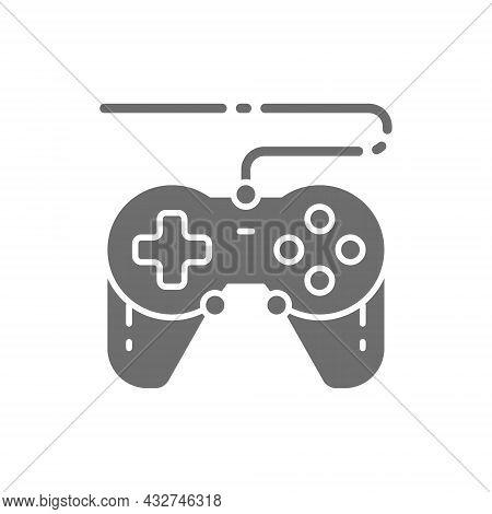 Vector Joystick, Gamepad, Gaming Device Grey Icon.