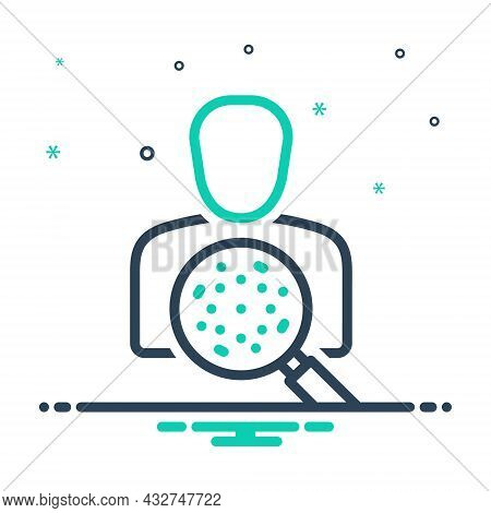 Mix Icon For Researcher Investigator Research Worker Researchist Innovation Magnifying People