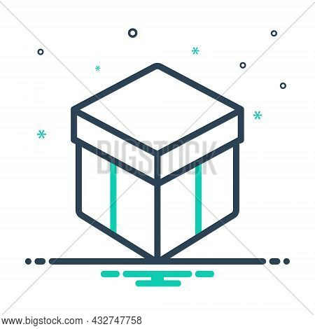 Mix Icon For Box Shipping Storage Gift Present Surprise Gift-box Package Parcel Wrapaping