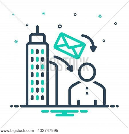 Mix Icon For To From Letter Email Address Building