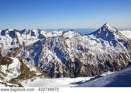 The Magnificent Allalinhorn 4027m Part Of The Mischabel Group Of Mountains In The Saas Fee Valley In