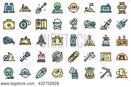 Expedition Icon. Outline Expedition Vector Icon Thin Line Color Flat Isolated On White