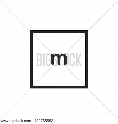 Clothes Size Icon Isolated On White Background. Size M. Vector Illustration