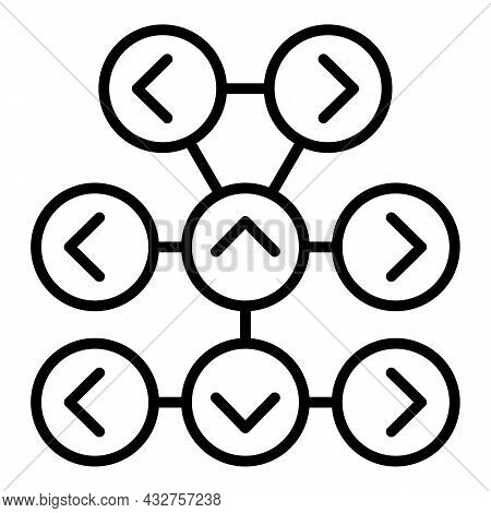 Strategy Scheme Icon Outline Vector. Vuca Data. Variety Complexity