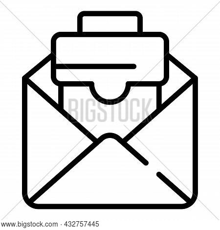 Cv Email Icon Outline Vector. Job Phone. Fax Resume