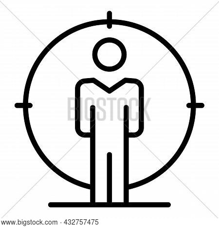Candidate Target Icon Outline Vector. People Customer. Business Work