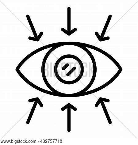 Search Eye Icon Outline Vector. Look View. Pictogram Shape