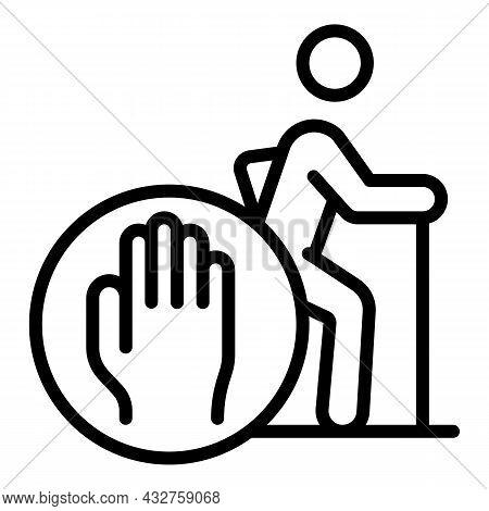 Ageism Stereotype Icon Outline Vector. Senior Discrimination. Society Prejudice