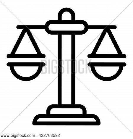 Election Scale Icon Outline Vector. Government Ballot. Democracy Vote