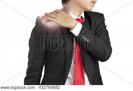 Office Worker Feel Shoulder Muscle Pain , X-ray Muscle