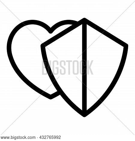Keep Heart Icon Outline Vector. Love Hand. Home Gratitude