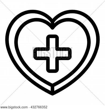 Medical Heart Icon Outline Vector. Human Cardiac. Healthy Organ