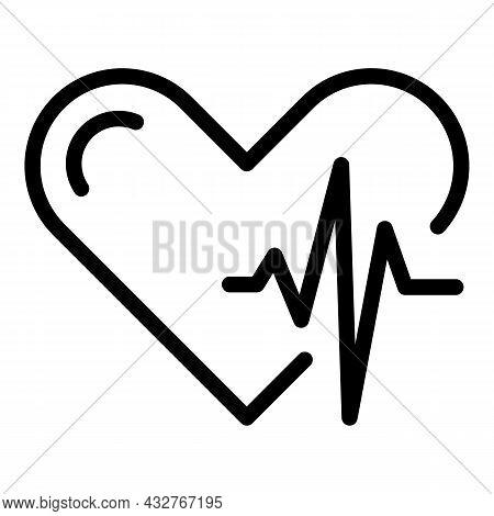 Health Heart Beat Icon Outline Vector. Rate Pulse. Cardio Ekg