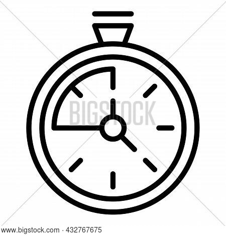 Stopwatch Icon Outline Vector. Stop Watch. Quick Chronometer