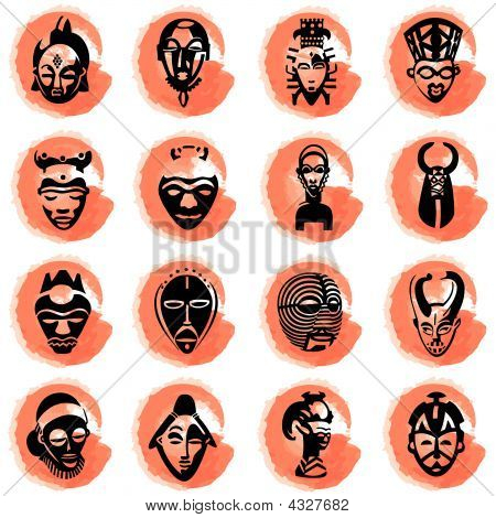 Splotches With African Masks
