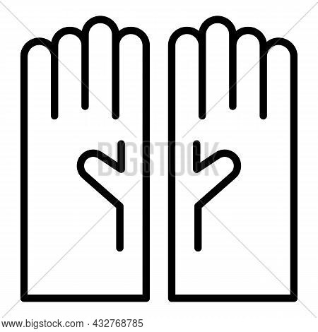 Hair Colouring Gloves Icon Outline Vector. Dye Woman. Fashion Brush