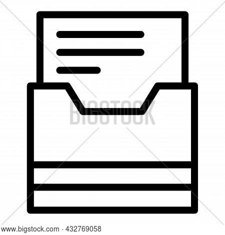Folder Icon Outline Vector. File Portfolio. Business Document