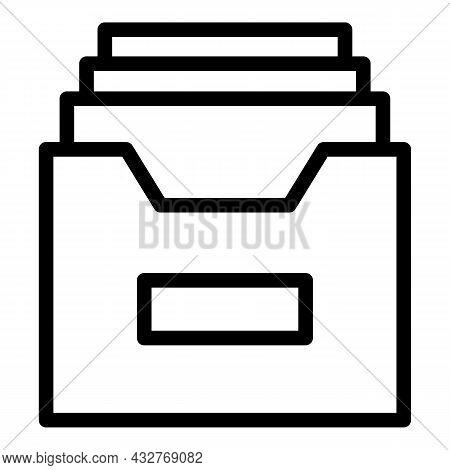 File Folder Icon Outline Vector. Portfolio Document. Computer Paper