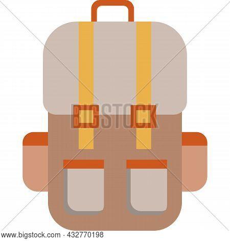 Travel Backpack Bag Vector Back Pack Rucksack Icon