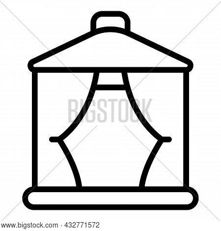 Garden Pavilion Icon Outline Vector. Gazebo Pergola. Patio House