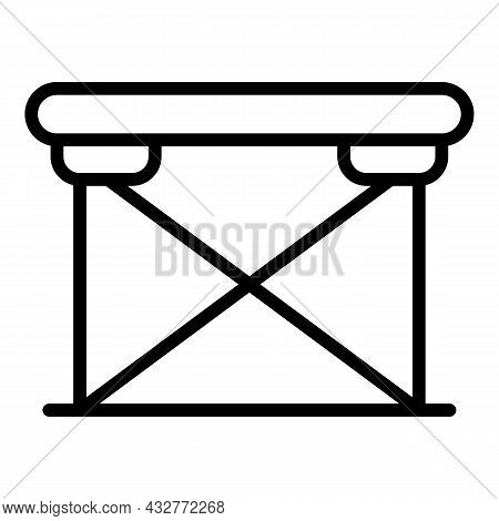 Camp Table Icon Outline Vector. Plastic Furniture. Outdoor Picnic