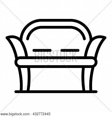 Garden Sofa Icon Outline Vector. Chair Furniture. Terrace Porch