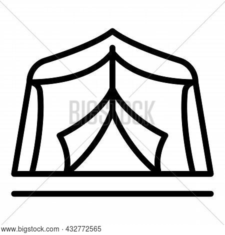 Garden Tent Icon Outline Vector. Pavilion Marquee. Party Outdoor
