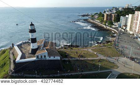 Aerial View Of Farol Da Barra