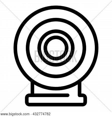 Archery Target Icon Outline Vector. Arrow Game. Dart Goal