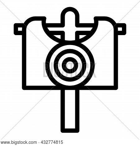 Archery Board Icon Outline Vector. Dart Target. Bullseye Target