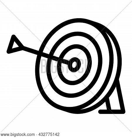 Target Hit Icon Outline Vector. Dart Arrow. Goal Focus