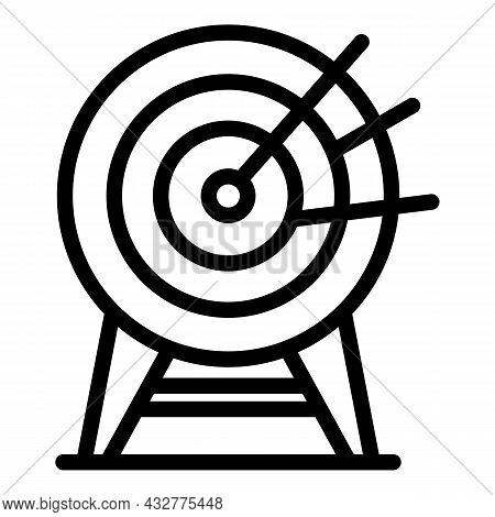 Archery Bullseye Icon Outline Vector. Dart Target. Arrow Target