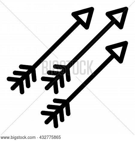 Shooting Arrow Icon Outline Vector. Archery Bow. Archer Target