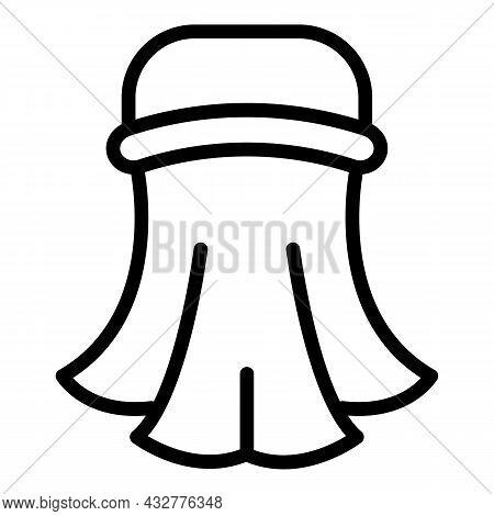 Islamic Turban Icon Outline Vector. Islam Prayer. Muslim Mosque