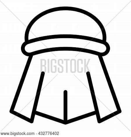 Traditional Turban Icon Outline Vector. Indian Punjabi. Indian Sikh