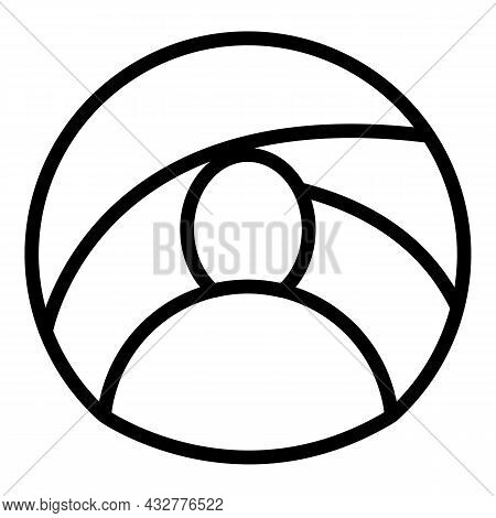 East Turban Icon Outline Vector. Indian Hat. Oriental Hat