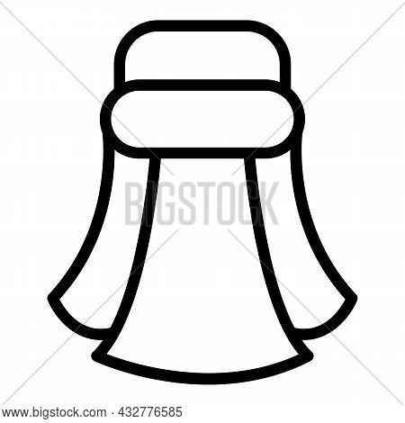 Turban Headscarf Icon Outline Vector. Indian Pagdi. Indian Sikh