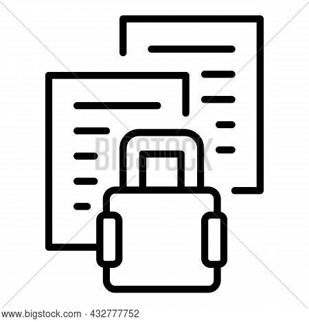 Privacy Files Icon Outline Vector. Confidential Document. Safe Data