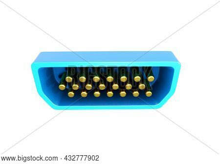 Ethernet Network Cable - 3d Rendering Detail, Symbol, Electronic, Transfer, Closeup, White, Contempo