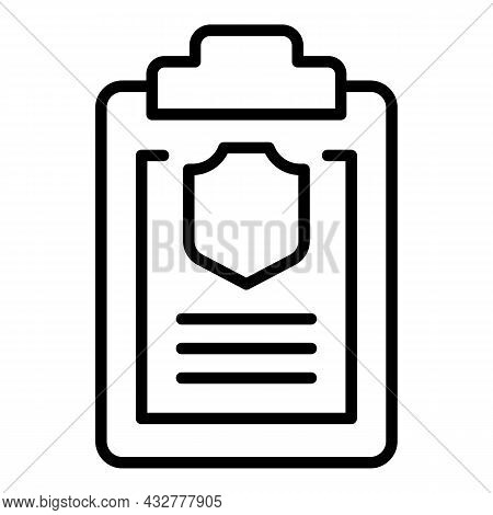 Privacy Checklist Icon Outline Vector. Pc Security. Pc Protection