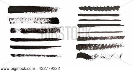 Brush Strokes. Paintbrush Set, Brush Strokes Templates. Grunge Design Elements. Vector Illustration